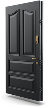 residential security door gold series black