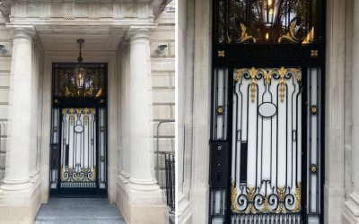 Central London High Security Door with Bespoke Metal Decoration