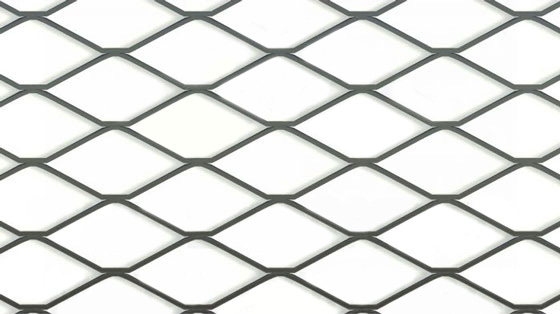MD1 Large, Expanded Metal, Flattened, Steel mesh