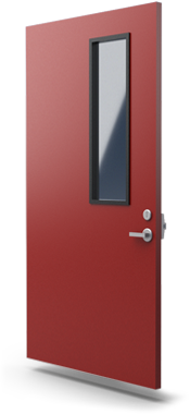 fire rated commercial security door