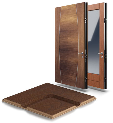 milled wood panels residential security doors